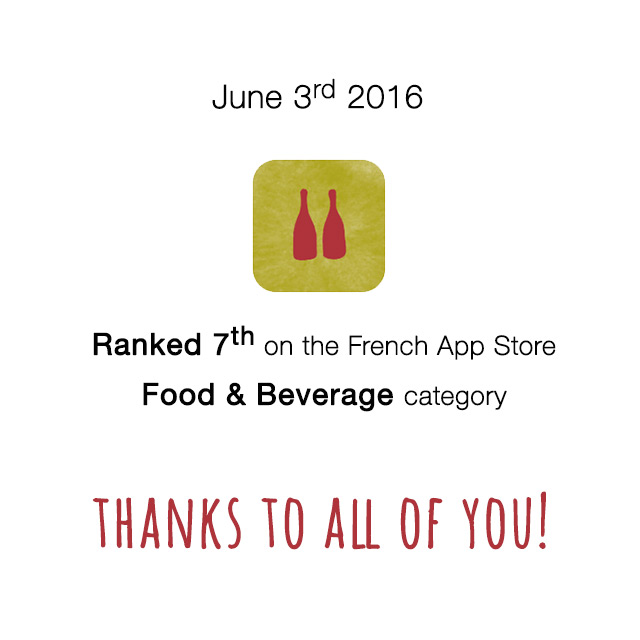 Awesome! Raisin ranked 7th on the French App Store on June 3rd