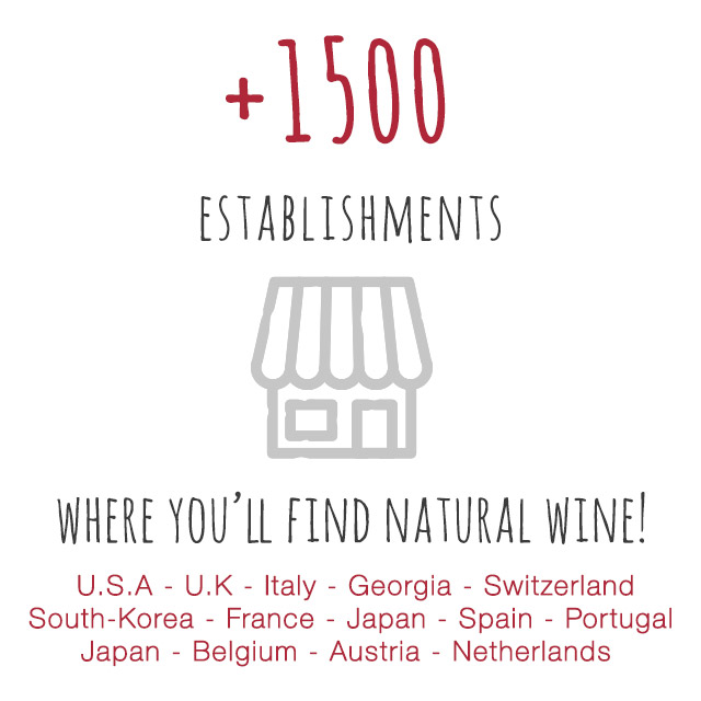 1500 places referenced where you can find natural wines!