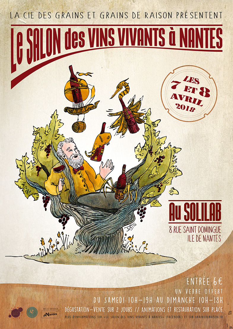 Salon des vins vivants raisin for Calendrier salon des vins