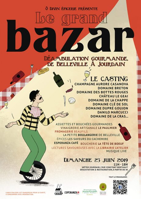 Le GRAND BAZAR - Déambulation gourmande de Belleville à Jourdain.
