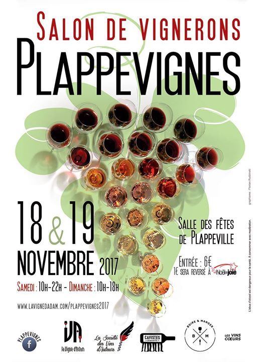 Salon de vignerons plappevignes 2017 raisin for Calendrier salon des vins