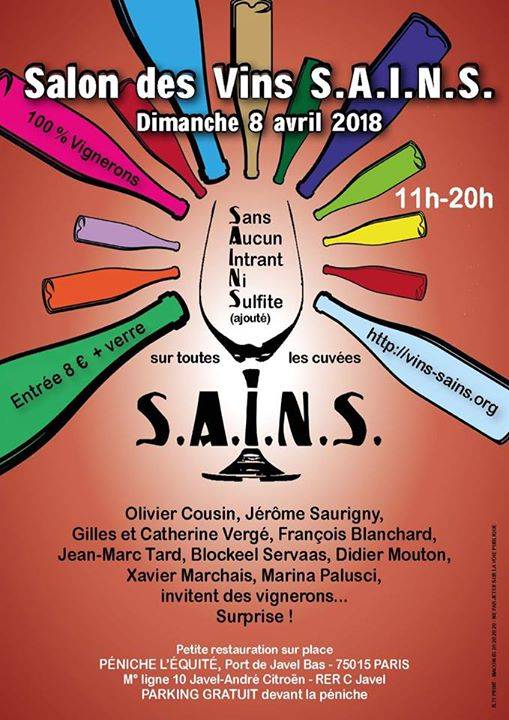 Salon des vins s a i n s raisin for Calendrier salon des vins