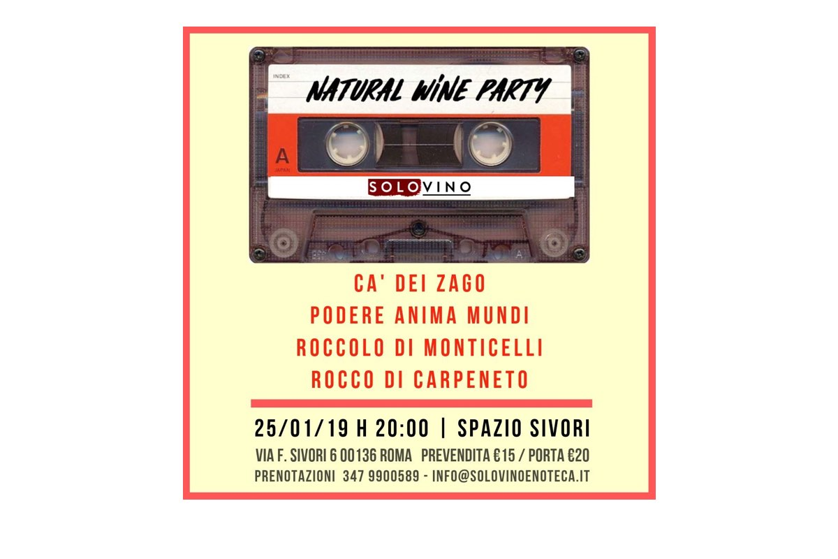 Natural wine party - SOLOVINO Enoteca