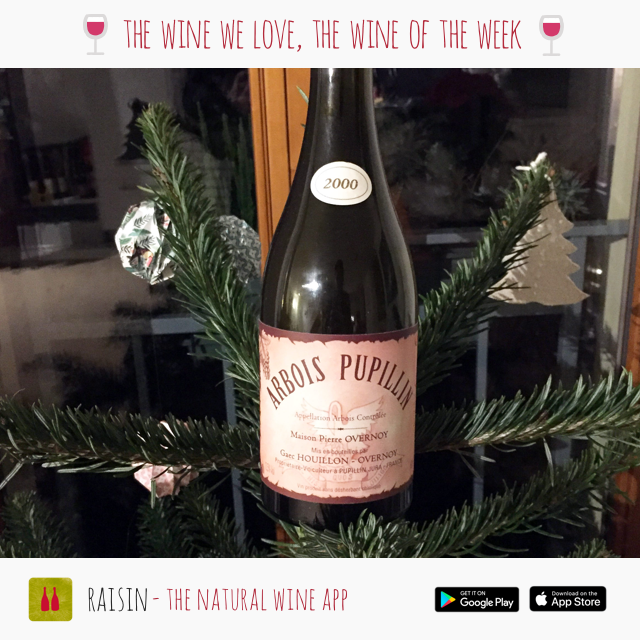 2000 VIEUX SAVAGNIN OUILLÉ FROM DOMAINE OVERNOY-HOUILLON: CEDRICK'S WINE OF THE WEEK - CHRISTMAS EDITION