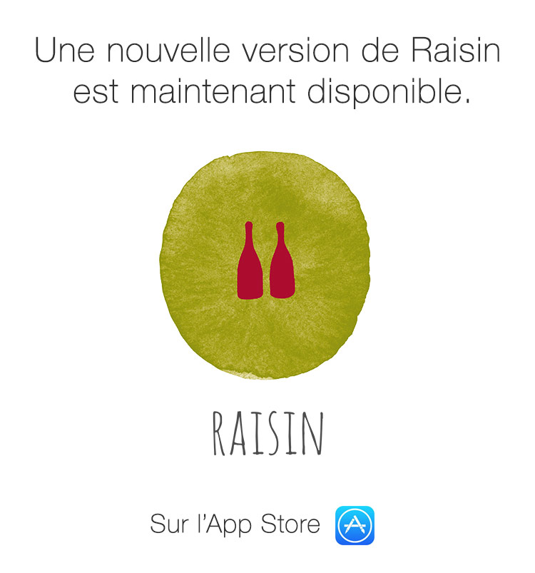 Une nouvelle version de Raisin est maintenant disponible.